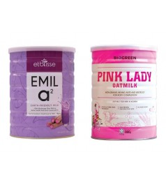 Mix Biogreen Pink Lady Oatmilk  & EMIL a2 Free 1 Pkt Buckwheat