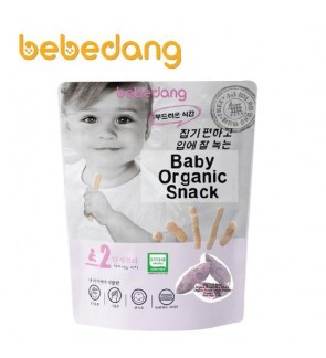 Bebedang Organic Brown Rice Stick - Rice Bud & Purple Sweet Potato (30gm) Stage2