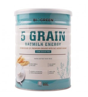 Biogreen 5 Grain Oatmilk Energy (HALAL) 850G