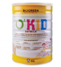 Biogreen O'Kid Oatmilk -850g (Halal)-New Stock