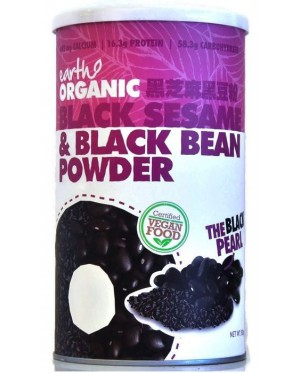 Earth Organic Black Sesame N Black Bean Powder- 500g