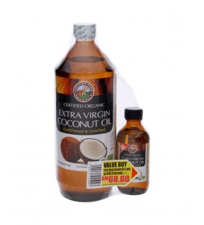 Country Farm Extra Virgin Coconut Oil 1 Litres With Extra 100ml Bottle.