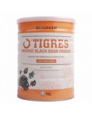 Biogreen O'Tigres Organic Black Bean Powder Low Cane Sugar 700g
