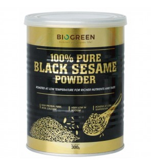 Biogreen- 100% Pure Black Sesame Powder - 300g (Halal)
