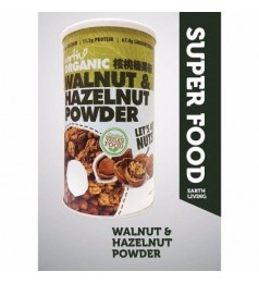Earth Living The Mighty 8 Organic Superfood - Walnut & Hazelnut Powder (500gm)