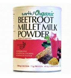 Earth Organic Beetroot Millet Milk Powder (Gluten Free)-900g- New Stock