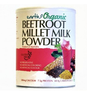 Earth Living Organic Beetroot Millet Milk Powder (Gluten Free)-900g- New Stock
