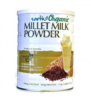 Earth Living ORGANIC Millet Milk Powder (Gluten Free)-900g New Stock