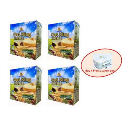 Oat King (Original Flavour) 500g, Single Pack OR Buy 4 Free 1 Lunch Box
