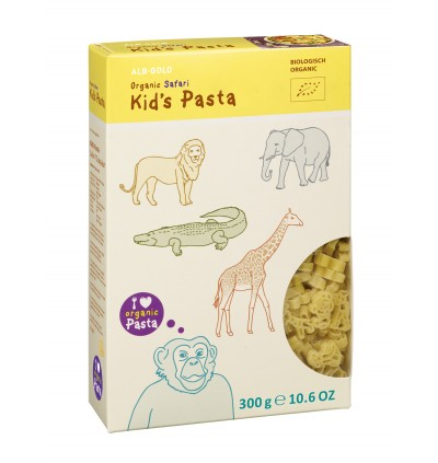 ALB GOLD Organic Kid's Pasta - (Safari, Ocean, Dinos) (300gm)