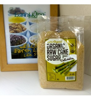 Earth Organic Organic Raw Cane Sugar (1KG)