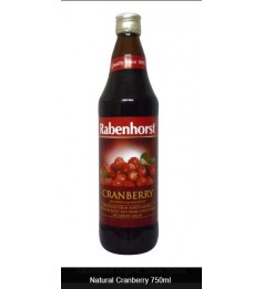 Rabenhorst Natural Cranberry Juice 750ml Vegan, Germany, Health Paradise