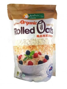 HEALTH PARADISE Organic Rolled Oats 500gm (NASAA Certified, Australia) Halal