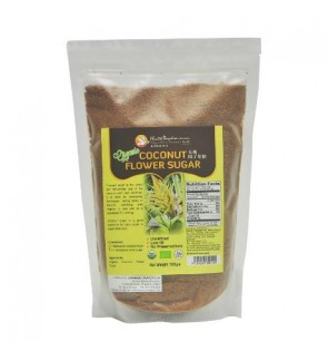 Health Paradise Organic Coconut Flower Sugar 500gm, Low GI, Unrefined Halal