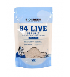 Biogreen 84 Live Sea Salt (Fine) - Pouch (200g)