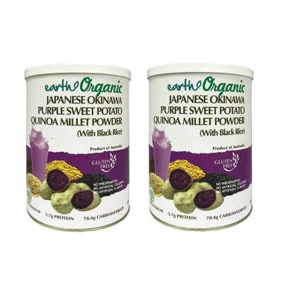 Earth Organic Japanese Okinawa Purple Sweet Potato Quinoa Millet Powder 850g