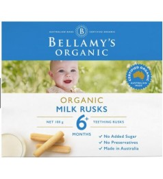 Bellamy's Organic Toothiepegs Milk Rusks (100g)