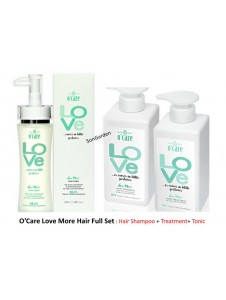 O'CARE Love More Hair Full Set : Shampoo(500ML) + Treatment (500ML) + Tonic (100ML)