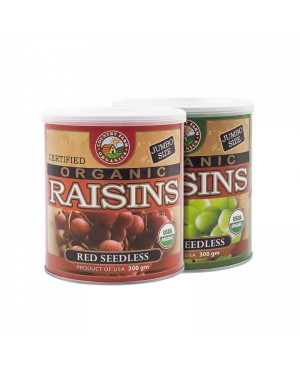 Country Farm Twin Pack Red & Green Organic Seedless Raisins (300gx2)