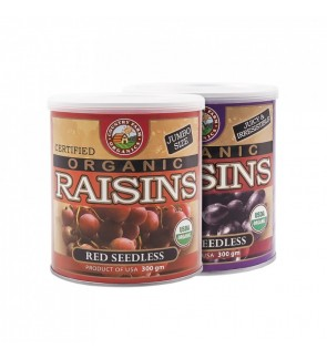 Country Farm Twinpack Red & Black Organic Seedless Raisins (300gx2)