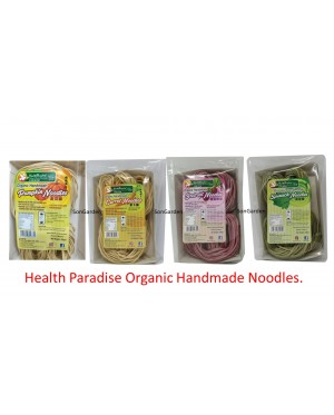 Health Paradise Organic Handmade Noodles 200gm (Spinach, Beetroot,Carrot,Pumpkin)