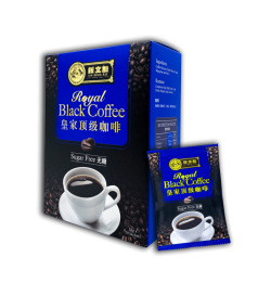 Sin Boon Kee ROYAL BLACK COFFEE Sugar Free (Kosong) 新文记皇家顶级咖啡 - 无糖 [18g x 10 Sachets]
