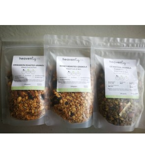 Roasted Granola - Mixed Fruits & Nuts- 250 grams - Honey, Cinnamon,Uji Matcha [Ready to eat]