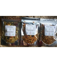 Roasted Granola[EasyPack] - Mixed Fruits & Nuts- 50 grams - Honey, Cinnamon,Uji Matcha [Ready to eat]