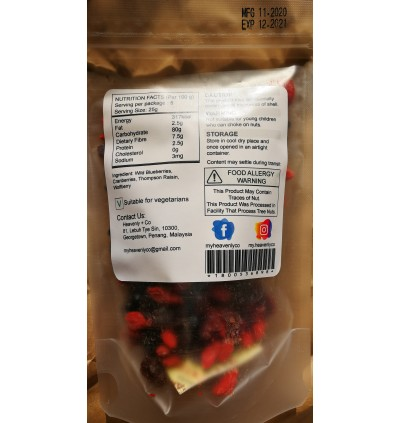 Premium Natural Antioxidants Berry Fruit Mix -125gm