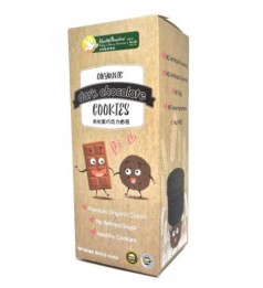 Health Paradise Organic Dark Chocolate Cookies 180gm (2 pieces x 6 packs) individual pack premium cocoa No refined sugar