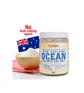 Biogreen New Zealand Ocean Balance Organic Sea Salt, 400g (HALAL)