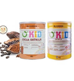 Biogreen O'Kid Oatmilk 850g [ Original OR Cocoa OR Mix] - HALAL