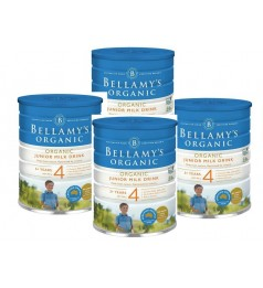 4X Bellamy´S Organic Step 4 Junior Milk Drink -Equinutri 900g