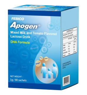 Apogen /Apogen® Children Granule [ MIXED MILK AND TOMATO FLAVORED LACTOSE DRINK] 1Pack  (1g/80Sachets) Or Twin Pack 2X (1g/80Sachets)