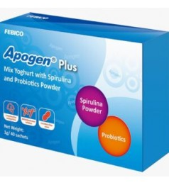 Apogen Plus (1g/ 40 sachets) yoghurt flavour -3 strains of probiotics (10 billion CFU/g)