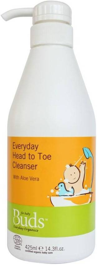 BUDS EVERYDAY ORGANICS: EVERYDAY HEAD TO TOE CLEANSER - 425ML